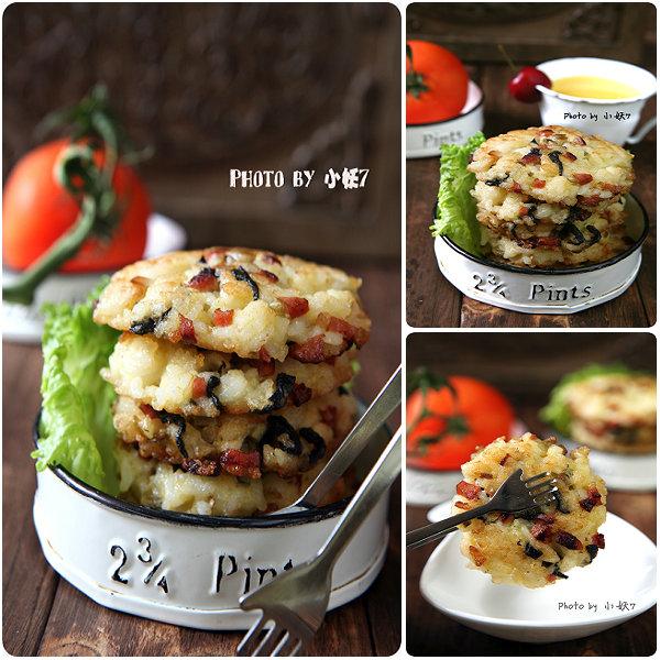 10分钟早餐系列【9】:给米饭整个容-海苔榨菜煎米饼[小妖7]