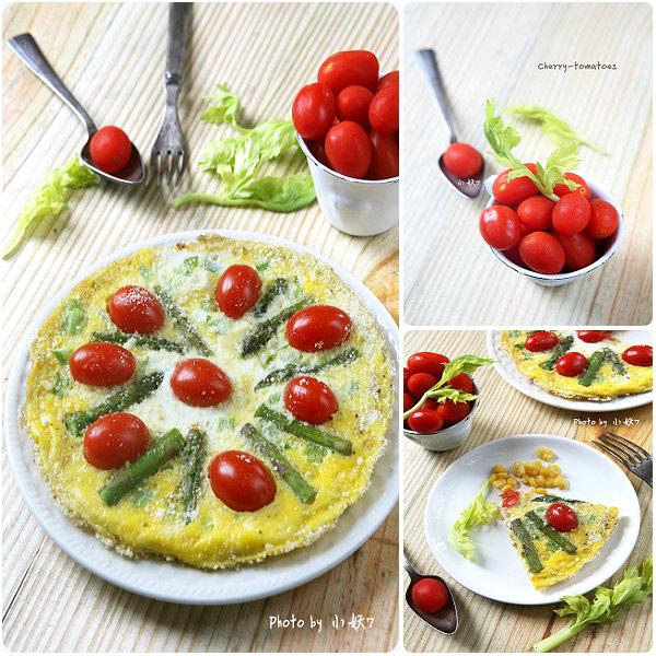 10分钟早餐系列【13】甜玉米红宝石杂蔬蛋排[小妖7]