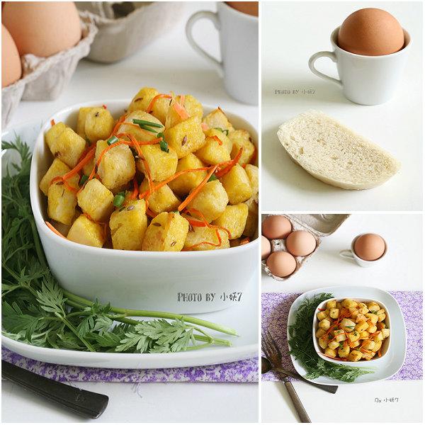 10分钟早餐系列【24】给馒头加个黄金外衣-孜然鸡蛋炒馒头[小妖7]