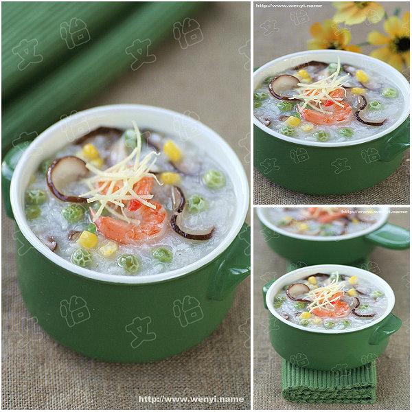 香菇田园蔬菜粥的做法__文怡家常菜_文怡厨房_文怡的博客