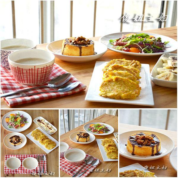 (早餐系生活2)南瓜饼的做法/燕麦山药奶浆的做法/五色沙拉的做法[傻妞主妇]