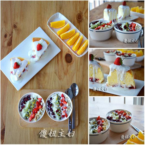 (早餐系生活8)草莓乳酪蛋糕的做法/综合燕麦粥的做法[傻妞主妇]