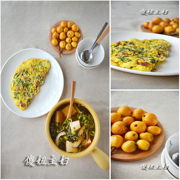 (早餐系生活12)玉米鸡蛋烧的做法/豆苗豆腐紫菜汤的做法[傻妞主妇]