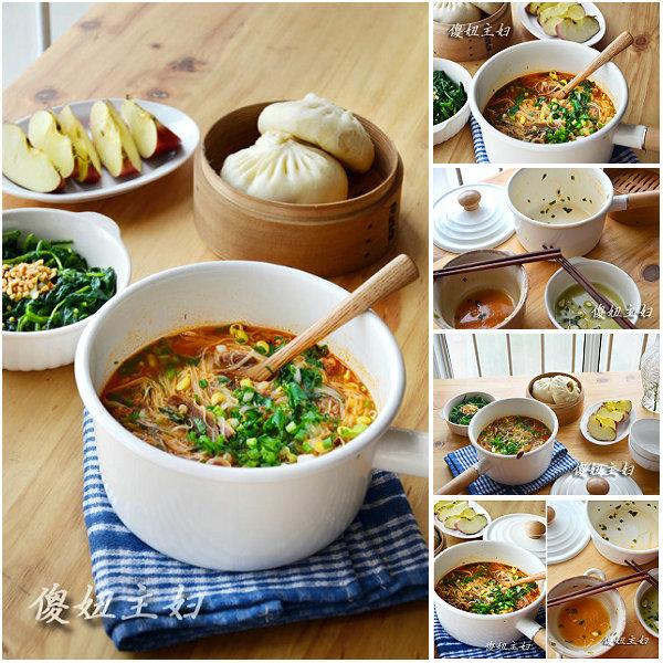 (早餐系生活22)酸汤肥牛面线的做法/炒空芯菜的做法/包子的做法[傻妞主妇]