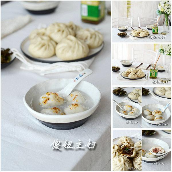 (早餐系生活34)玫瑰白豆沙汤圆的做法/香菇肉包的做法[傻妞主妇]