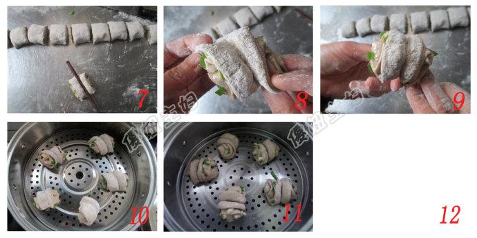 (早餐系生活37)黑麦花卷的做法/小米鳕鱼粥的做法/拌鸡蛋的做法[傻妞主妇]