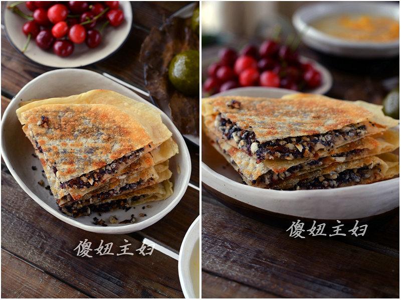 (早餐系生活39)五仁合饼的做法/咸蛋黄肉松青团的做法/小米南瓜粥的做法[傻妞主妇]
