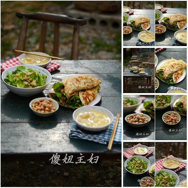(早餐系生活41)鸡蛋灌饼的做法/红薯玉米粥的做法/鱼皮花生的做法[傻妞主妇]