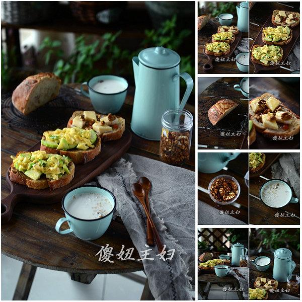 (早餐系生活42)核桃奶酪三明治的做法/玉米牛奶的做法[傻妞主妇]