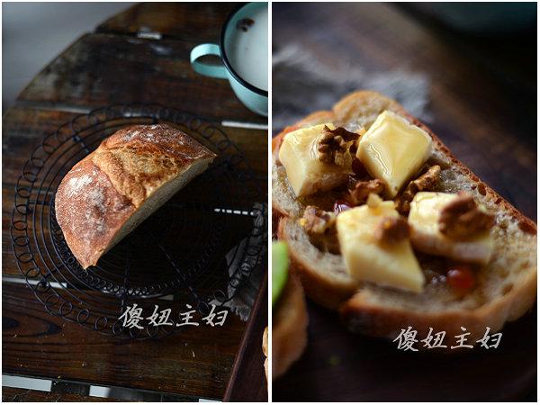 (早餐系生活40)核桃奶酪三明治的做法/玉米牛奶的做法[傻妞主妇]
