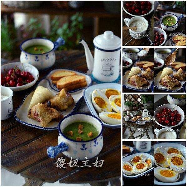 (早餐系生活44端午早餐)法式蔬菜汤的做法/粽子的做法/腌鹅蛋的做法[傻妞主妇]