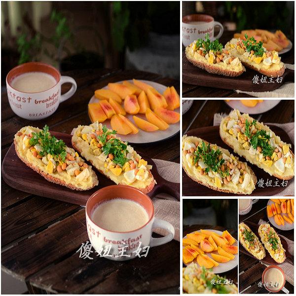 (早餐系生活47)豆浆马玲薯三明治的做法/豆浆的做法[傻妞主妇]