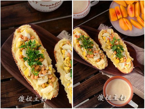 (早餐系生活46)豆浆马玲薯三明治的做法/豆浆的做法[傻妞主妇]