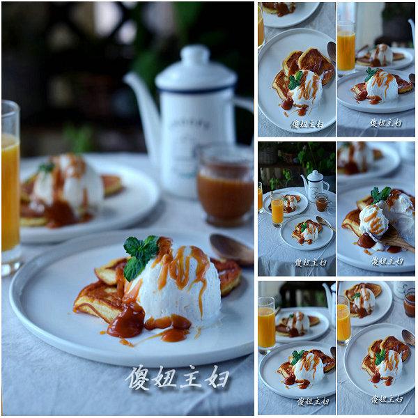 (早餐系生活49)盐味奶油焦糖舒芙蕾松饼的做法/鲜果汁的做法[傻妞主妇]
