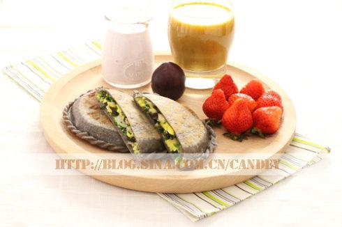 (每日小学生早餐)红豆薏米枸杞浆的做法/韭菜盒子的做法[CANDEY]