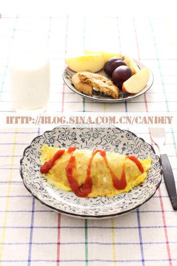 (每日小学生早餐)蛋包饭的做法/桃酥的做法/布朗的做法[CANDEY]