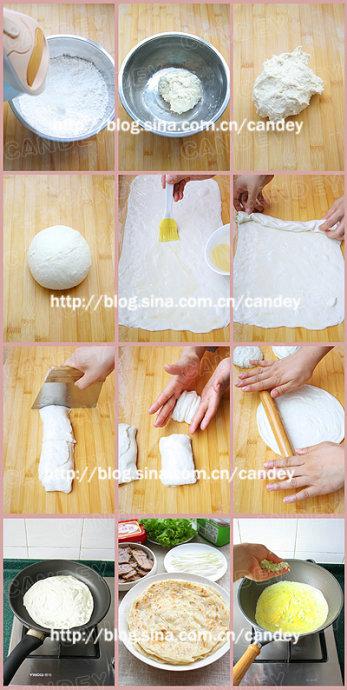 (每日小学生早餐)红薯粥的做法/烙饼夹牛肉的做法/鲜虾蛋饼的做法[CANDEY]