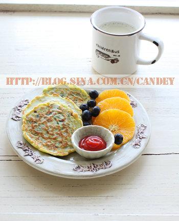 (每日小学生早餐)双豆浆的做法/菠菜培根松饼的做法[CANDEY]