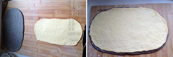 荞麦馒头的做法/南瓜卷馒头的做法/黑芝麻+南瓜双色馒头的做法/开口笑杂粮馒头的做法[籁籁]
