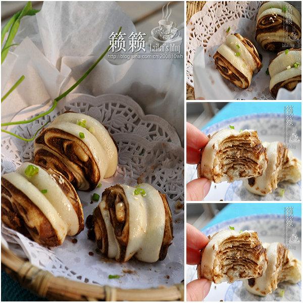 麻酱花卷的做法/麻酱花卷怎么做好吃[籁籁]