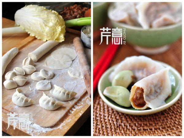 白菜猪肉灌汤水饺的做法/白菜猪肉灌汤水饺怎么做好吃[芹意qin]