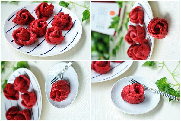 玫瑰花卷的做法