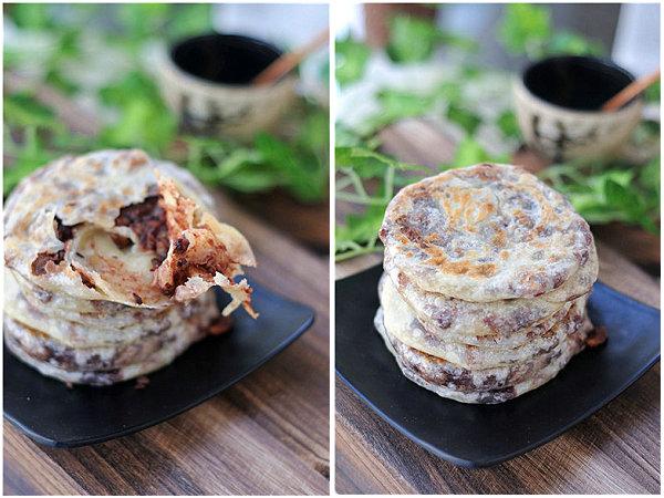红豆手抓饼的做法[美美家的厨房]