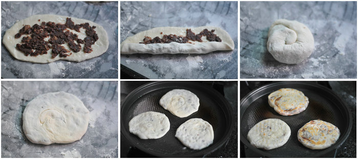 红豆手抓饼的做法