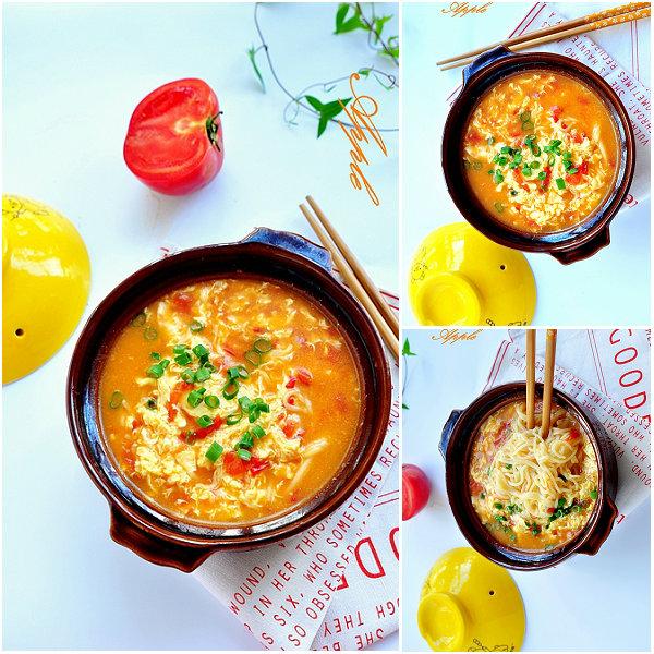 西红柿炝锅面的做法[苹果小厨]