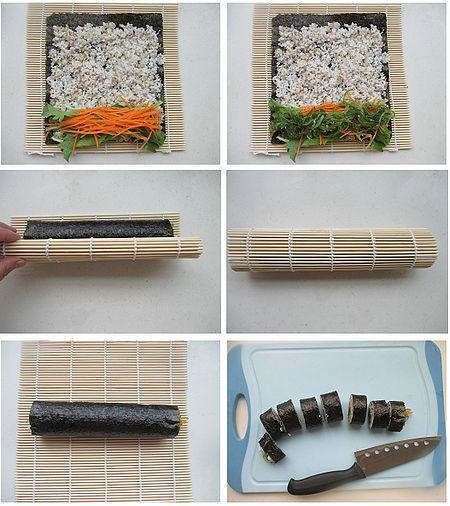 海藻寿司的做法