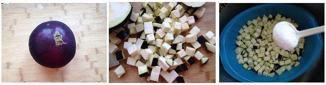 酱烧茄丁打卤面的做法