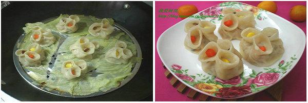 【蒸饺的做法】白菜瘦肉蒸饺