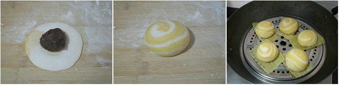 【红豆包的做法】双色红豆包