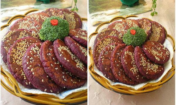 【饼的做法】香煎紫薯饼