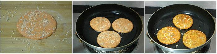 【煎饼的做法】胡萝卜豆沙煎饼