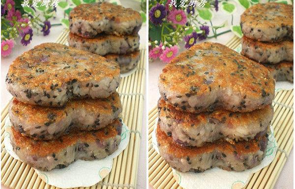 【米糕的做法】紫薯糯米糕