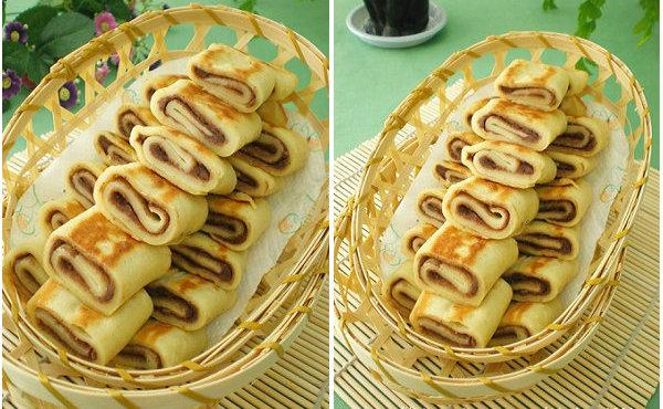【卷饼的做法】豆沙卷饼