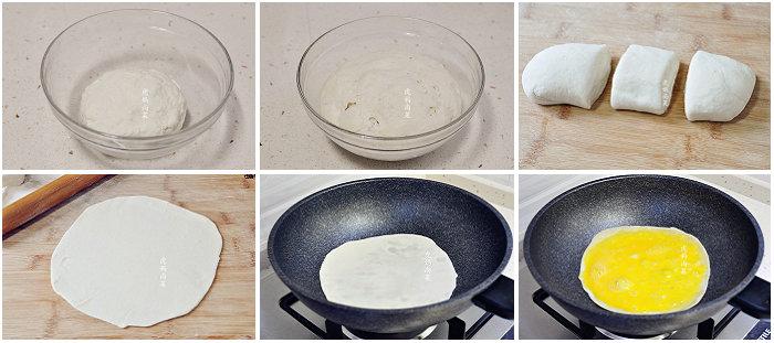 虾仁蛋饼卷的做法