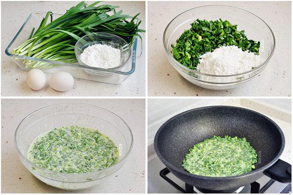 韭菜蛋饼卷的做法