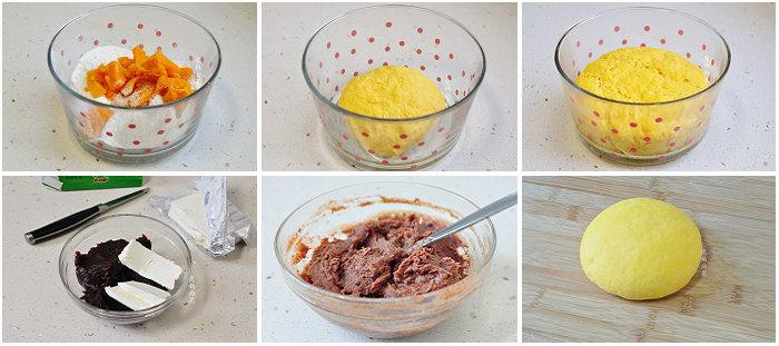 南瓜奶酪豆沙包的做法